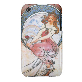 Alfons Mucha: Muse of Painting iPhone 3 Case
