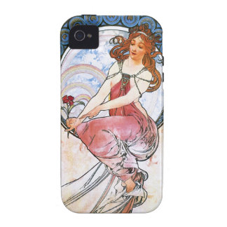 Alfons Mucha: Muse of Painting Case-Mate iPhone 4 Covers