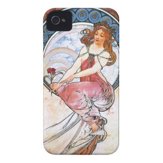 Alfons Mucha: Muse of Painting iPhone 4 Case-Mate Cases