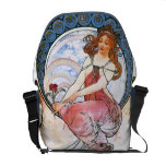 Alfons Mucha: Muse of Painting Messenger Bag