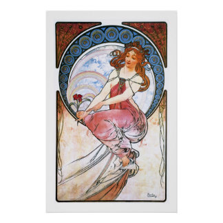 Alfons Mucha: Muse of Painting Print