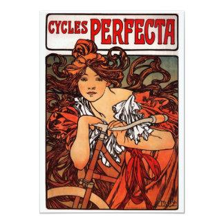 """Alfons Mucha Perfecta Invitación 5"""" X 7"""""""