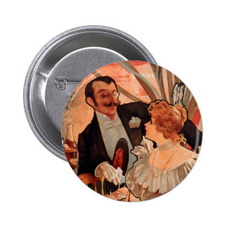 Alfons Mucha Pinback Button