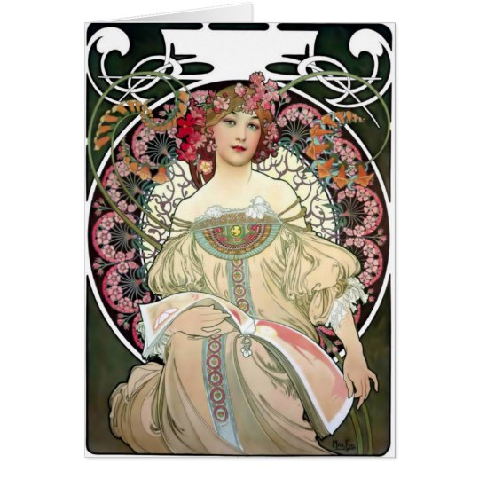 Alfons Mucha Reverie 1897 Card