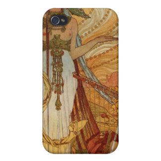 Alfons Mucha  Salammbô iPhone 4 Cases