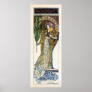 Alfons Mucha Sarah Bernhard  vertical banner Poster