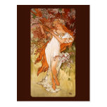 Alfons Mucha Spring Postcard
