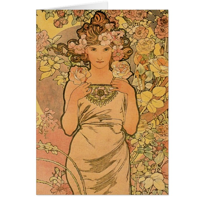 Alfons Mucha ~ The rose Card