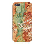 "Alfons Mucha  ""Winter"" iPhone 5 Case"