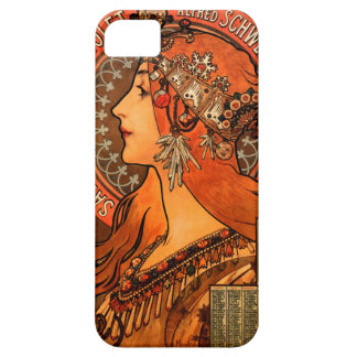 Alfons Mucha woman in profile painting savonnerie iPhone SE/5/5s Case