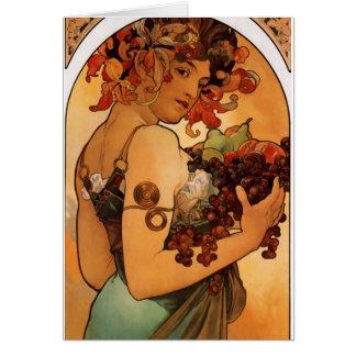 Alfonse Mucha Fruit Card