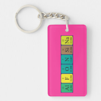 Alfonsina periodic table name keyring keychain