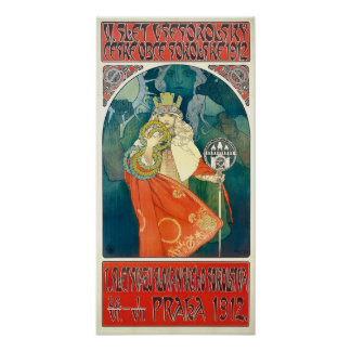 Alfonso Mucha 6to Sokol Festival, poster 1912