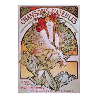 Alfonso Mucha. Chansons D 'Aieules, c.1898 Posters