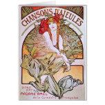 Alfonso Mucha. Chansons D 'Aieules, c.1898 Tarjeta