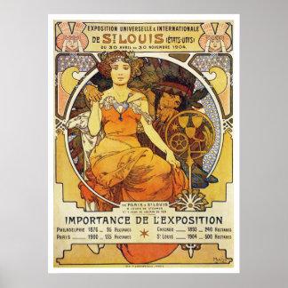 Alfonso Mucha. Expo 1903 de St. Louis Póster