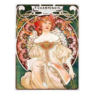 Alfonso Mucha F. Champenois Print Fotografías