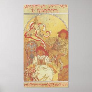 Alfonso Mucha - impresión de la exposición 1913 Póster