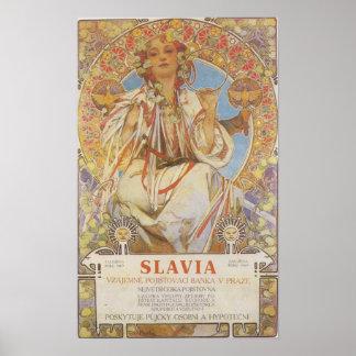 Alfonso Mucha - impresión de Slavia Póster