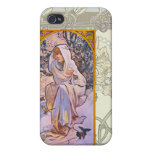 Alfonso Mucha iPhone 4 Protectores