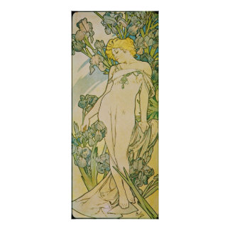 Alfonso Mucha. L 'iris/iris, 1897 Póster