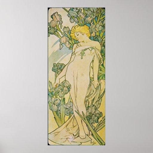 Alfonso Mucha. L 'iris/iris, 1897 Posters