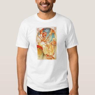Alfonso Mucha la camiseta épica eslava Playeras