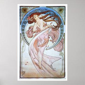 Alfonso Mucha. La Danse/danza, 1898 Póster
