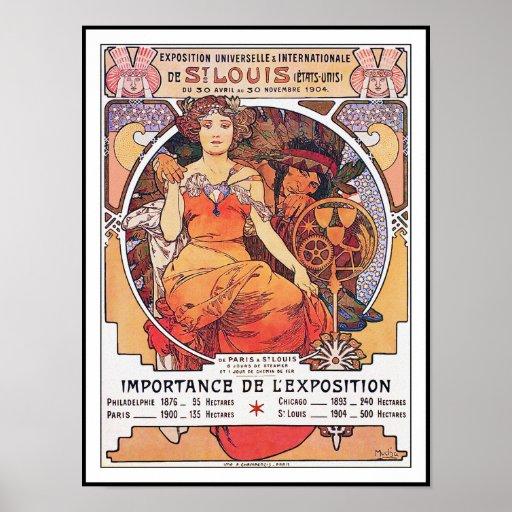 Alfonso Mucha - la feria de mundo St. Louis 1904 Posters