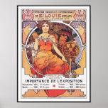 Alfonso Mucha - la feria de mundo St. Louis 1904 Póster