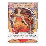 Alfonso Mucha - la feria de mundo St. Louis 1904 Postales
