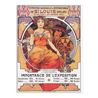 Alfonso Mucha - la feria de mundo St. Louis 1904 Postal