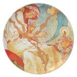 Alfonso Mucha la placa épica eslava Plato
