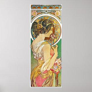 Alfonso Mucha. La Primevere/Polyanthus, 1899 Póster