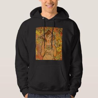 Alfonso Mucha la sudadera con capucha color de ros