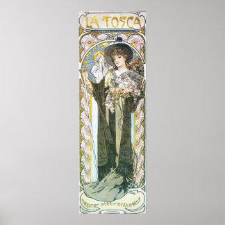 Alfonso Mucha. La Tosca, 1899 Póster