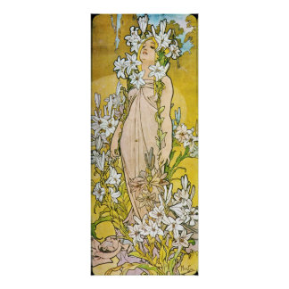 Alfonso Mucha Le Lys lirio 1897 Posters