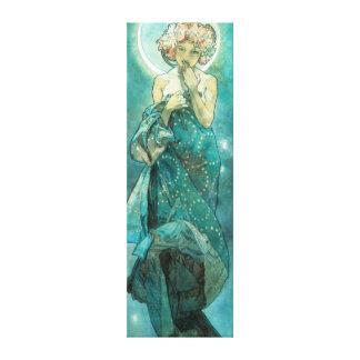 Alfonso Mucha Moonlight Clair De Lune Art Nouveau Impresion En Lona
