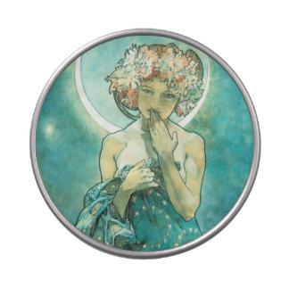 Alfonso Mucha Moonlight Clair De Lune Art Nouveau Jarrones De Dulces