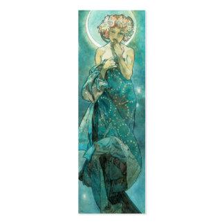 Alfonso Mucha Moonlight Clair De Lune Art Nouveau Tarjetas De Visita Mini