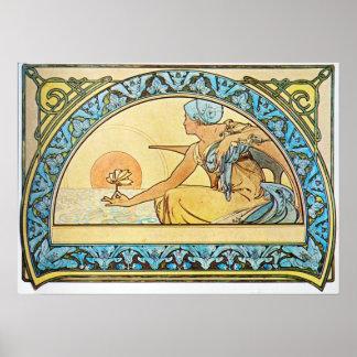 Alfonso Mucha. Nenuphar/Waterlily, 1898 Póster
