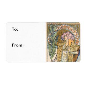 Alfonso Mucha - pintura de Sarah Bernhard Etiquetas De Envío