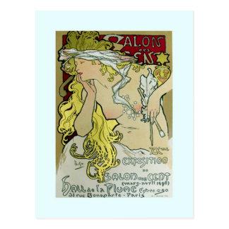 Alfonso Mucha poster de la exposición 1896 Postal