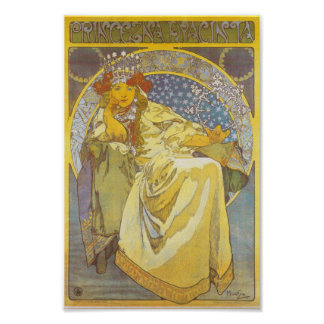 Alfonso Mucha - princesa Hyacint Print Póster