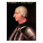 """Alfonso V el """"magnánimo"""", rey de Aragón Postal"""