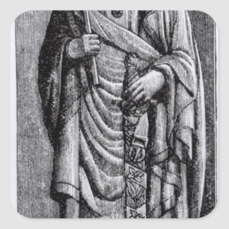 """Alfonso X """"el sabio"""", rey del Castile Calcomania Cuadradas"""