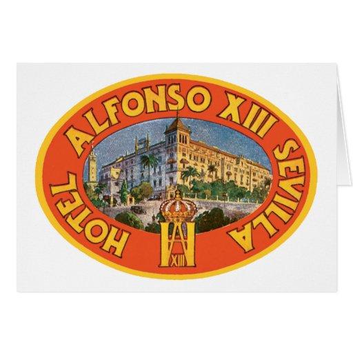 Alfonso XIII Hotel Sevilla Greeting Card