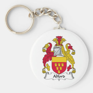 Alford Family Crest Basic Round Button Keychain
