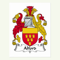 Alford Family Crest Postcard