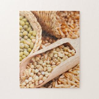 Alforfón, trigo, avena y Mung verdes - cereal Puzzle Con Fotos